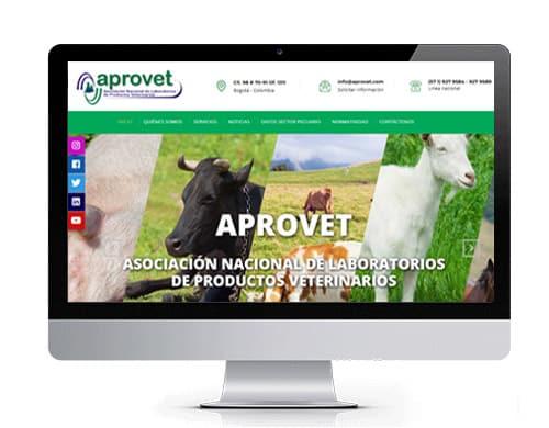 diseño-pagina-web-aprovet-portafolio Diseño de paginas web en bogotá