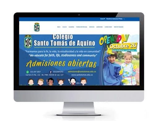 diseño-pagina-web-colegio-santo-tomas-portafolio Portafolio diseño de paginas web